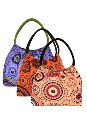 Anekaant Orb Multicolor Printed Canvas Shoulder Bag Pack Of 3