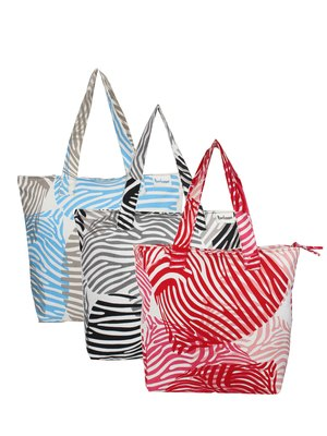 Anekaant Zebra Multicolor Printed Canvas Tote Bag Pack Of 3