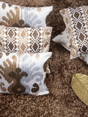 """Ethnic Abstract Reversible Printed Cushion Cover 12""""x12"""" (Set of 5)"""