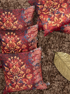 "Ethnic Printed Cushion Cover 12""x12"" (Set of 5)"