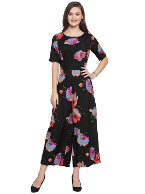 multicolor printed Crepe Jumpsuit