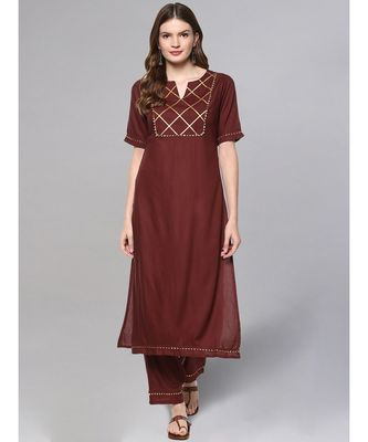 Coffee Brown Kurta Set