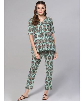 Printed Short Kurta Set