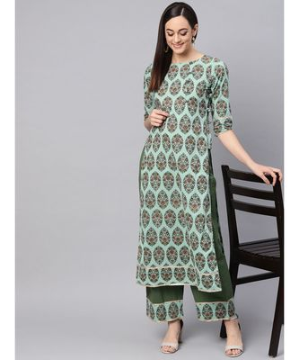 Printed Kurta With Palazzo Pants