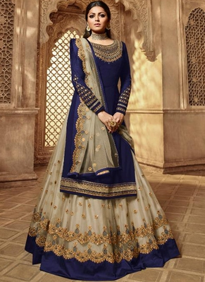 Royal Blue Georgette Pakistani Salwar Kameez