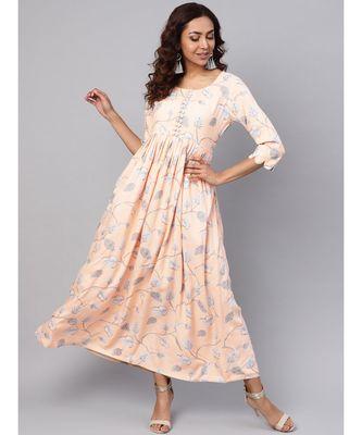 Rayon Jaal Print Dress