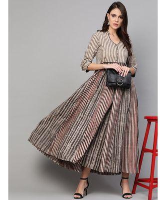 Lining Multicolor Dress