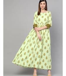 Green Boota Frilled Dress