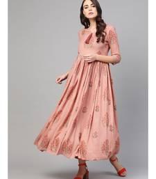 Rose Gold Boota Printed Dress