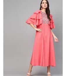 Coral Pintuck Dress