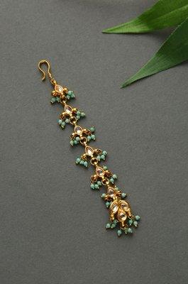 Sahira Turquoise Beaded Kundan MangTikka