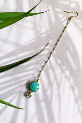 Zaira Turquoise Stone Beaded MangTikka