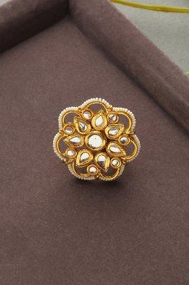 Suraiya Polki And Pearls Ring