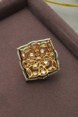 Preet Kundan and Pearls Ring