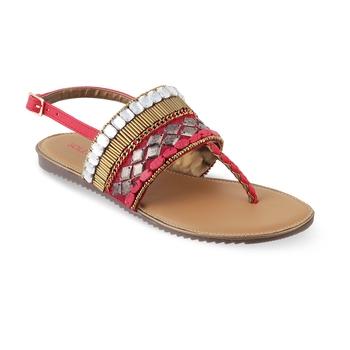 SOLE HEAD Red Flat Sandal
