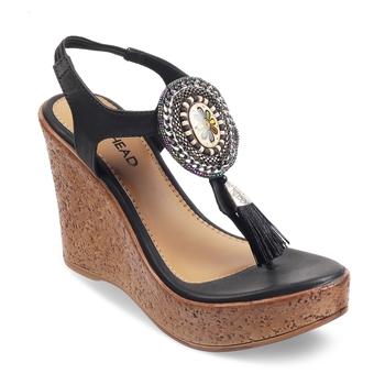 SOLE HEAD Black Heels Women Sandal