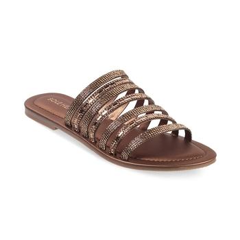 SOLE HEAD Rose Gold Flat Women Sandal