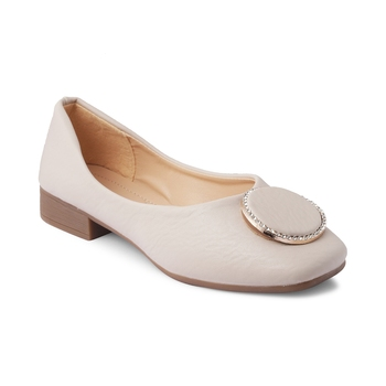 SOLE HEAD White Heels Women Ballerinas