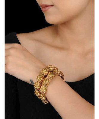 Gold Plated Temple Work Bangles
