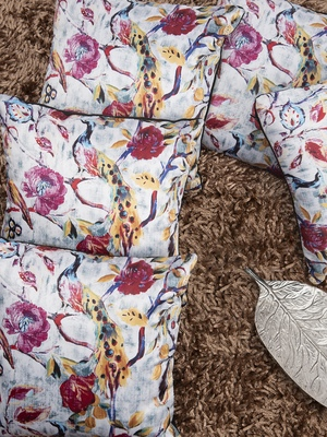 """Houzzcode Printed Cushion Cover 12""""x12"""" (Set of 5)"""