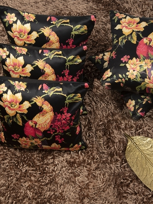"Houzzcode Tropical Cushion Cover 12""x12"" (Set of 5 )"