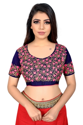 pink embroidered cotton blouse fabric