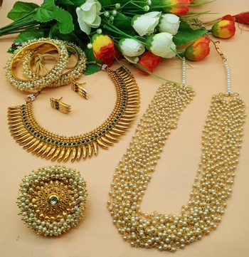 temple jewerlly set for womens