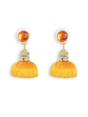 Girls Gold Doomed Jhumka Earrings