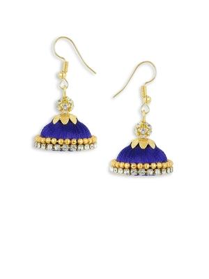 Girls Navy Blue Doomed Jhumka Earrings