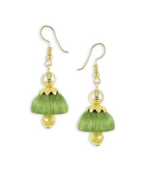 Girls Green Doomed Jhumka Earrings