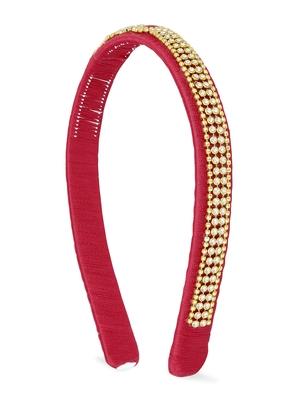 Girls Red Ethnic Hairband
