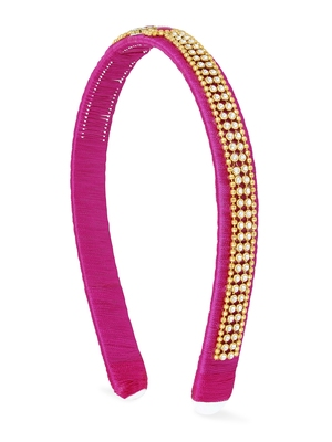 Girls Pink Ethnic Hairband