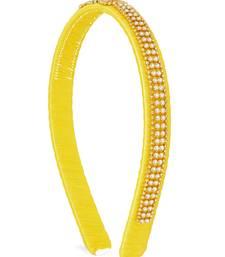 Girls Yellow Ethnic Hairband