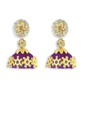 Girls Purple Doomed Jhumka Earrings