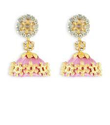 Girls Rose Doomed Jhumka Earrings