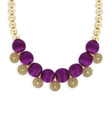Girls Purple Ethnic Necklace