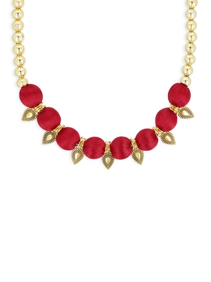 Girls Red Ethnic Necklace