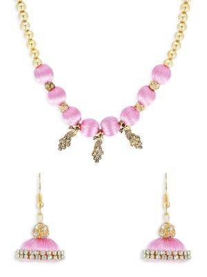 Girls Rose Ethnic Necklace Set