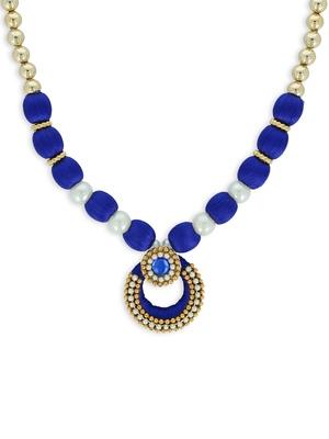 Girls Blue Ethnic Necklace