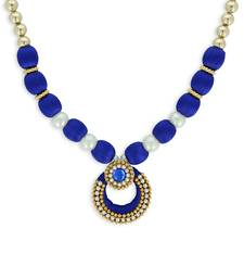 Girls Blue Ethnic Necklace