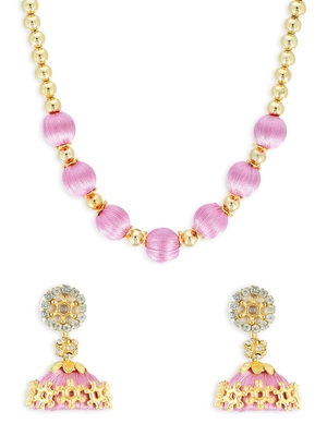 Girls Rose Ethnic Necklace Set