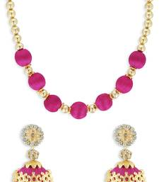 Girls Pink Ethnic Necklace Set