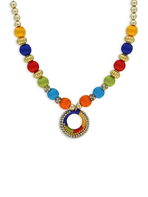 Girls Multi Ethnic Necklace