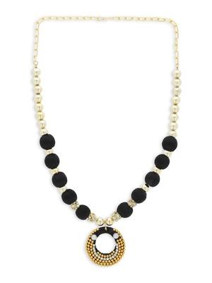 Girls Black Ethnic Necklace Set