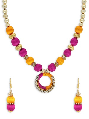 Girls Gold Ethnic Necklace Set