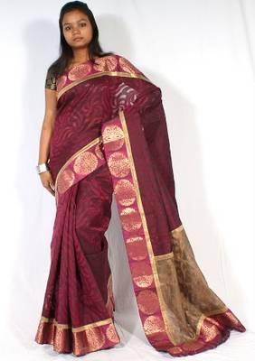 Designer Supernet Banarasi Saree
