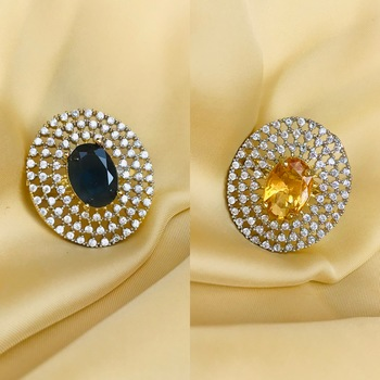 Gold cubic zirconia rings