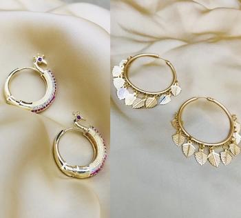 Gold cubic zirconia earrings
