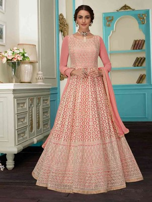 Light Pink Designer Wedding Anarkali Suit