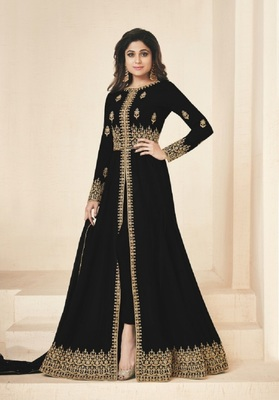 Black embroidered santoon salwar